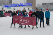 Skaters opening the Emera Oval.